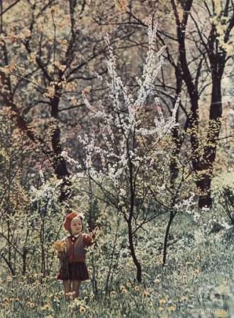 Маленькая девочка в парке, фото СССР.
