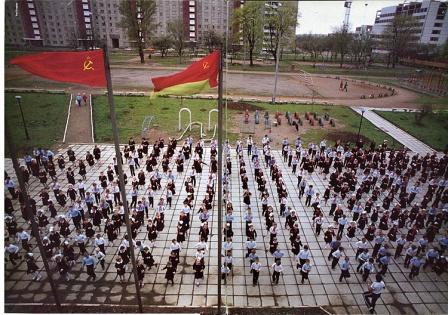 Гимнастика. Детская физкультура в СССР, фото.