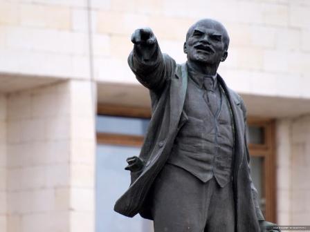 Обои для рабочего стола: Ленин Калуга, площадь Старый Торг (бывшая Ленина)