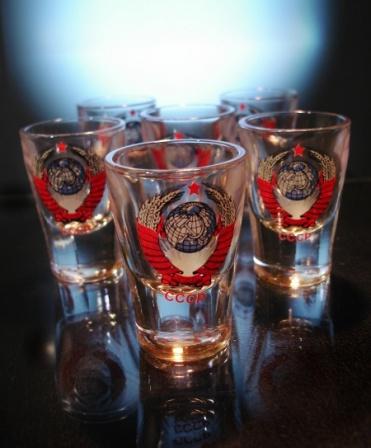 "Набор стопок ""Герб СССР"" из 6 предметов ( 60 мл)"