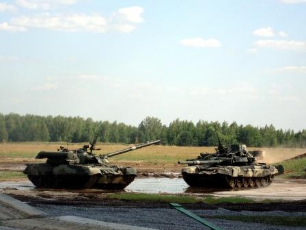 Фото Российских танков для рабочего стола. Два танка.
