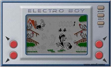 Знаменитая игра Волк и яйца, электроника.