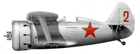 """Советский истребитель - биплан И-153 """"Чайка"""""""
