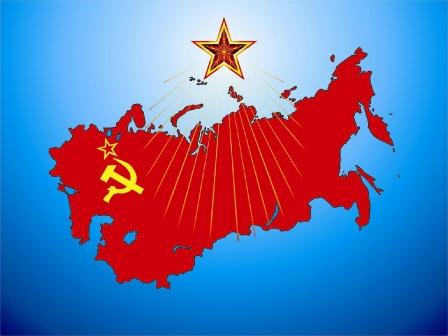 Обои - карта Советского Союза