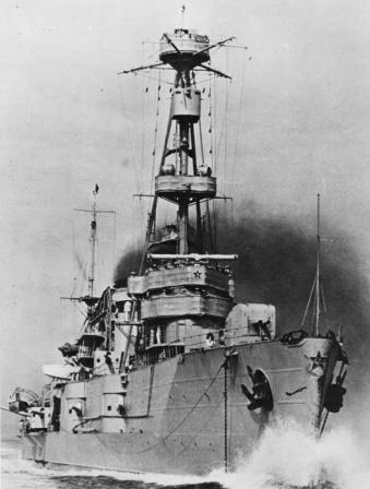 Советский легкий крейсер «Червона Украина» в море