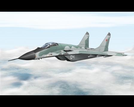 Миг-29, 3D модель на рабочий стол.
