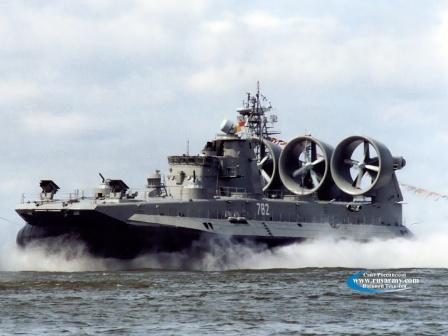 Мордовия. Малый десантный корабль на воздушной подушке проекта 1232.2