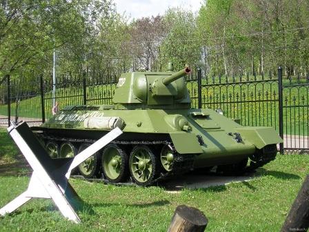 Памятник, советский танк.
