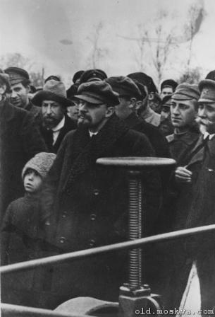 Ленин в толпе, фото.