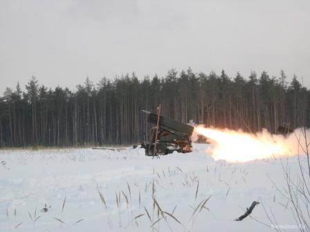 Залп русской артиллерии, обои на рабочий стол.