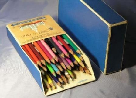 Набор цветных карандашей, сделано в СССР.