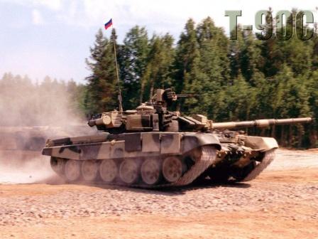 Танки Т-90 на марше. Обои.