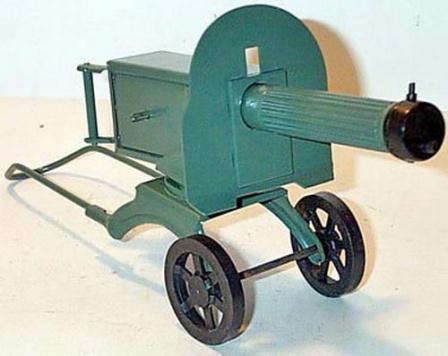 Игрушечный пулемет Максим. Детские игрушки сделанные в СССР.