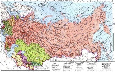 Карта СССР на рабочий стол, обои.