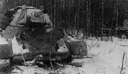 Танки Т-34 в засаде