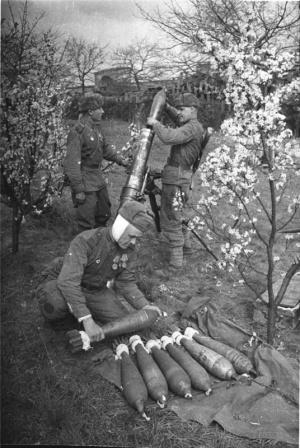 Советские минометчики в Австрии