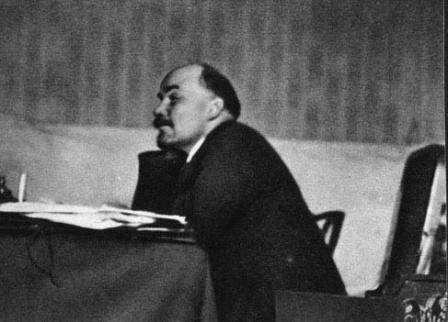 В.И.Ленин  на заседании Пленума ЦК РКП(б) в Кремле. Москва, 5 октября 1922 г.