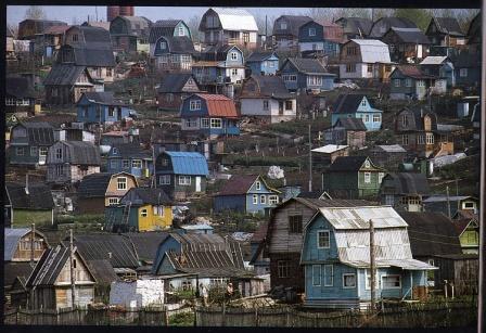Дачи в СССР. Фото дачного поселка.