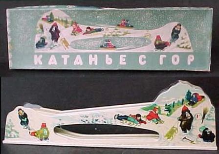 Катание с гор, фото игрушки, вид сбоку.