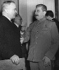 Молотов и Сталин, потсдамская конференция.