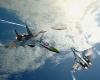 Коллаж, советские самолеты и летающая тарелка.