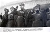 К.Е. Ворошилов, М.Н. Тухачевский, Я.Б. Гамарник и другие военачальники на военном параде.