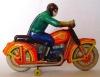 Фото игрушечного мотоцикла с мотоциклистом.