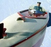Еще фото заводной игрушечной советской моторки.