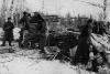 САУ ЗИС-30 на позиции для огня. Ноябрь 1941 года