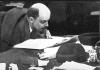 В.И.Ленин  в президиуме IX съезда РКП(б)   в Свердловском зале Кремля.  Москва, март-апрель 1920 г.