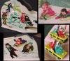 Коллаж из фотографий детской игрушки Катание с гор. Сделано в СССР.
